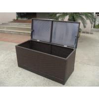 Quality Brown Resin Wicker Storage Box for sale