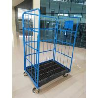 Quality Four Wheel Steel Roll Container Folding Box Roll Cage Wire Container for sale