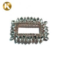Quality Custom Rectangle Type Crystal Shoe Buckles Iron Or Copper Material for sale