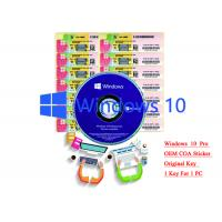 32/64 bit Windows 10 Product Key Sticker Win 10 Pro COA X20 Online Activate
