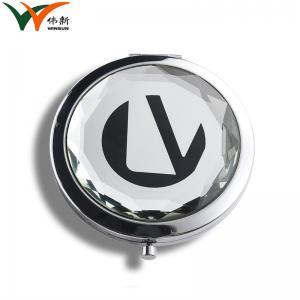 China Pu Leather Frame Large Compact Folding Mirror / Desktop Makeup Mirror on sale