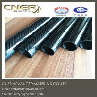 Buy cheap Carbon fiber tube, ID 26 mm twill weave carbon fibre rod, carbon fiber pole, from wholesalers
