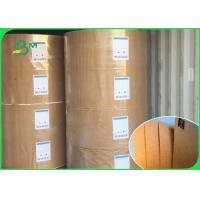 Quality 100% Virgin Pulp Brown Kraft Wrapping Paper Roll 100g - 450g Weight Anti Curl for sale