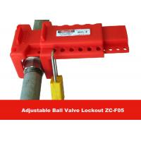 Quality Allow 7 Padlocks PP Material Economic Ball Valve Lockout for Ball Valves for sale