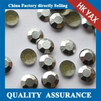 Buy cheap New arrival low price 2mm silver studs rhinestuds octagon for clothing from wholesalers