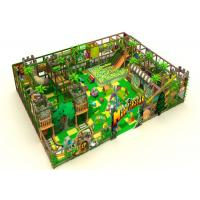 Quality 2 Floors Residential Indoor Playground Equipment With Vine Leaves / Roadway Jungle Theme for sale