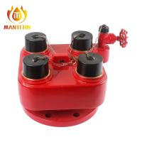 "Quality 4 X 2.5"" BS336 Fire Fighting Equipment 4 Ways Breeching Inlet Valve Water Divider for sale"