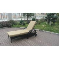 Quality Swimming Pool / Beach Rattan Sun Lounger With Aluminium Frame for sale