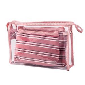 China Zipper One Piece PVC Cosmetic Bag Organizer 21*13cm on sale