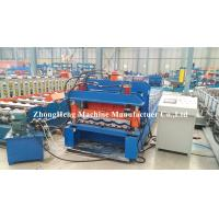 Quality Cold Rolled Panel Roofing Sheet Roll Forming Machine With Adjustable Feeding Table for sale