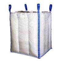 Quality 1.5 Tons 4 Panel Baffle Big FIBC Bulk Bag Blue / Orange Color For Loading for sale