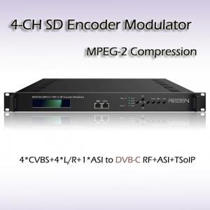 Buy cheap REM7204 4*CVBS to DVB-C(QAM) Four-Channel MPEG-2 SD Vidoe Encoder Modulator SD Video to DVB-RF Cable TV Equipment from wholesalers