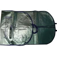 Quality Vl 75g Silvery Unwoven Fabric Dress Garment Suit Bag With Purple Binding, 2C Printing for sale