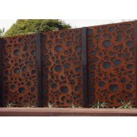 Quality Rusty Finish Large Outdoor Metal Wall Sculpture OEM / ODM Acceptable for sale