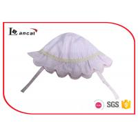 Quality 100% Cotton Seersucker Bucket Hat , Pink Cute Baby Hats With Cotton Sheeting Lining for sale