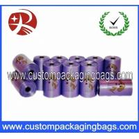 China LDPE OXO Biodegradable Colorful Dog Poop Bags With Roll Used For Cat on sale