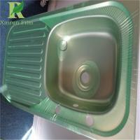 Quality 0.03-0.22mm Stainless Steel Adhesive Green Film For Deep Drawing for sale