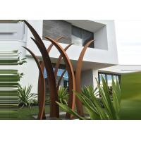Quality Residential Garden Landscape Corten Steel Sculpture Reed Design Corrosion Stability for sale