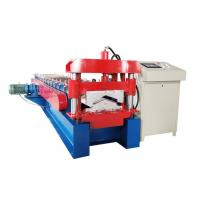 Quality Customized Color Ridge Cap Roll Forming Machine Thickness 0.3-0.7mm Decoiler Width 500mm for sale