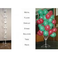 Quality Balloons Tree Metal Display Floor Stands with Wire Foldable Base / 8 PairsTubular Holder Balloon Metal Display Racks for sale
