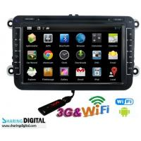 China Digital High Resolution Android Double Din DVD With 8 Inch Screen For VWM on sale