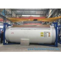 China 20 Foot Round LPG Tank Trailer , Anti - Corrosion Propane LPG Semi Trailer on sale