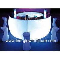 Quality Multi color changing led light furniture , Plastic led illuminated bar counter tables for sale