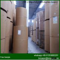 Quality 250/300/350 two sides coated duplex board paper for sale