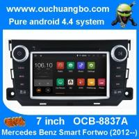 Quality Ouchuangbo Mercedes Benz smar fortwo android 4.4 OS autoradio dvd gps navi support USB SD for sale