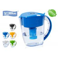 Quality Antioxidant High PH Alkaline Water Filter Jug , Plastic Wellblue Water Pitcher for sale
