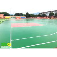 Quality Green SPU sports flooring material for basketball Sport Court Surface flooring for sale