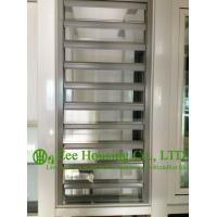 Hurricane-proof Aluminum Glass Louvered windows With Removable Screen,Jalousie louvre