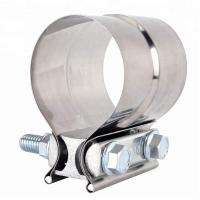 China Stainless Steel Lap Joint Exhaust Band Tube Clamp Round With 1 Block on sale