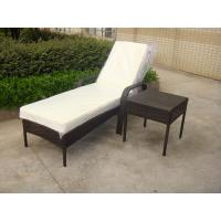 Quality Outdoor Pool side Sun Lounge Daybed Set Poly Rattan Furniture Cushion Cover for sale