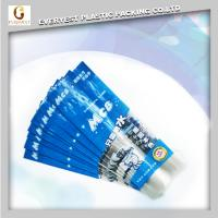 Quality opp/cpp plastic self adhesive bags transparent resealable with hanging header made in china for sale