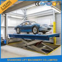 Quality Safety Stationary Hydraulic Scissor Car Lift for Home Garage Car Parking 3.3M Travel Height for sale