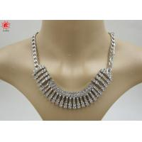 Quality Girls Silver Trendy Fashion Jewelry Necklace With Rhinestone for sale