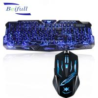 2016 Top Seller USB wired backlit best cheap pc keyboard and mouse combo