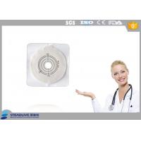 Quality Max Cut 45mm Hydrocolloid Flange Ostomy Bag With Tape Around Baseplate for sale
