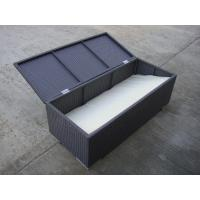 Quality All Weather Resin Wicker Storage Box For Outdoor Garden / Patio for sale