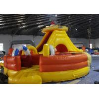 Quality Light Colorblow Up Jump House , Kids Bouncy Castle With Slide Combo Tunnel for sale