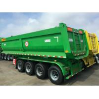Quality Tractor Pull Behind Dump Trailer Rear Steel Hydraulic Lifting Four Axles for sale