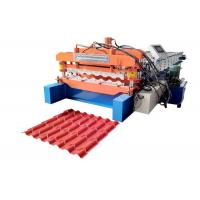 Quality Half Round Roof Tile Making Machine , Full Automatic Glazed Tile Forming Machine for sale