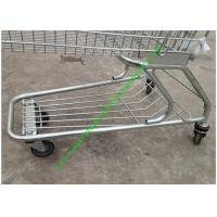 Buy American Style Supermarket Shopping Wire Cart / Customized Carbon steel Hand at wholesale prices