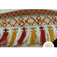 Quality Tassel Fringe Trim Fabric Fringe for Lampshade Lamp Costume Pillow Curtains Home Decor, 100% cotton lace fabric pom pom for sale