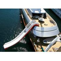 Quality Cheap Price Giant Inflatable Water Spots ,  Inflatable Curved Yacht Boat Slide for sale