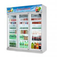 Quality Flowers Drinks Commercial Beverage Cooler Display showcase With Double Doors for sale