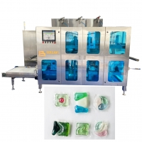 Quality 300 600 Pods Minute Film Sealing Cutting Producing Pod Filling Machine for sale