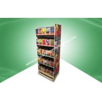 Quality Home Five Shelf Pos Cardboard Displays / Recyclable Floor Standing Display Units for sale