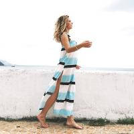 Quality 207703 New Alibaba Deep V-neck Beach Dress Sleeveless Split Summer Long Dresses Women Sexy for sale